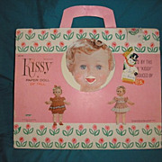 SALE 1963 vintage Kissy a paper doll in original carry around pack. Ideal Toy Corporation.