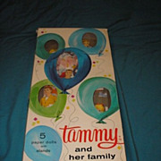 SALE 1964 original vintage Tammy and her family paper dolls with box.  Authorized edition. Ide