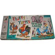 SALE #4518 a 1963 Fluffy Yarns Sewing Cards board game.