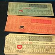 SALE Nine Omaha & Council Bluffs  STR. RY. CO. street or horse car ticket stubs. O ...