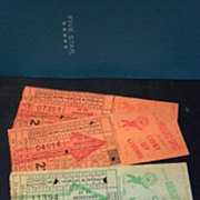 SALE Ten Omaha & Council Bluffs Str. Ry. Company bus, street or horse car ticket stubs ...