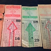 SALE Four Omaha & Council Bluffs Str. Ry. Company bus, street or horse car ticket stubs ...