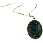 Berlin Iron Cameo Medallion / Pendant of Hercules, after Wedgwood, c. 1800 - 1815