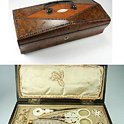 SOLD Palais Royal Sewing Box, C.1810, Complete