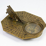 Butterfield Brass Sundial, Signed Butterfield, c.1700
