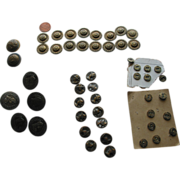 SOLD Lot of Old Metal Buttons