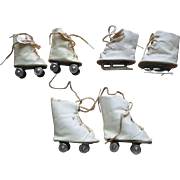 SOLD 3 Pairs of Older  Doll Skates