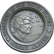 SALE President Jimmy Carter   Commemorative Plate