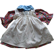 Older Cotton Doll Dress  with Apron