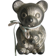 REDUCED Old Metal Bear Bank