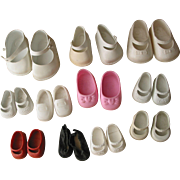 SOLD 11Pairs - Mostly Vinyl Doll Shoes