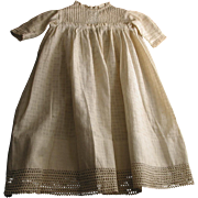 SALE PENDING Old Doll - Baby  Long White Dress