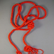 VINTAGE 61 Inch Flapper Beads Orange Orange Beautiful  Beaded Sautoir