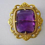 VINTAGE Fancy Purple Brooch Fit for a King!