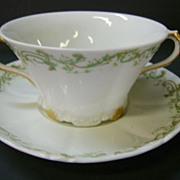 VINTAGE Theodore Haviland Limoges France Cream Soup Cup