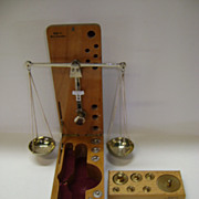 SOLD VINTAGE West Germany Balance Scale in Box with 2 set of Weights