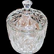 Anchor Hocking Prescut Pineapple Pattern Marmalade or Condiment Jar