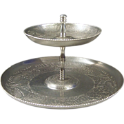 Two Tiered Embossed Aluminum Tray