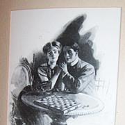 Early 1900's Romantic Illustration by William Belfour Ker : No. 532 Belfour Ker Series