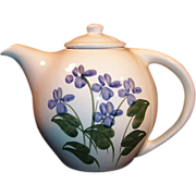 SALE Blue Forget Me Not Emerson Creek Pottery Teapot