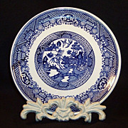 "SALE PENDING 7 1/4"" Vintage Blue Willow Dessert Plate"