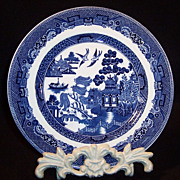 SALE PENDING Older Johnson Brothers Blue Willow Salad Luncheon Plate