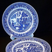SALE Old  W. Ridgway of England  Blue Willow Dinner Plate (only ONE available now)