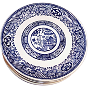 "Set of Six:  Blue Willow 6"" Saucer Plates"