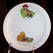 """Bareuther Waldsassen: 8"""" Child's Nursery Rhyme Plate"""