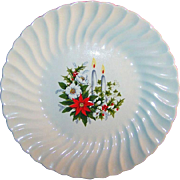 """7 1/4"""" Vintage Holiday Candle Light Plate"""