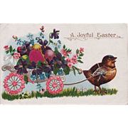 Antique C. 1909 Peep Easter Egg Delivery Austrian Fantasy Postcard
