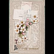 Antique John Winsch Easter Postcard with Booklet Poem & Cellophane Mailer