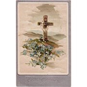 SOLD Antique Tuck's Rugged Cross Easter Postcard