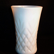 Anchor Hocking Milk Glass Pineapple Pattern Tumbler