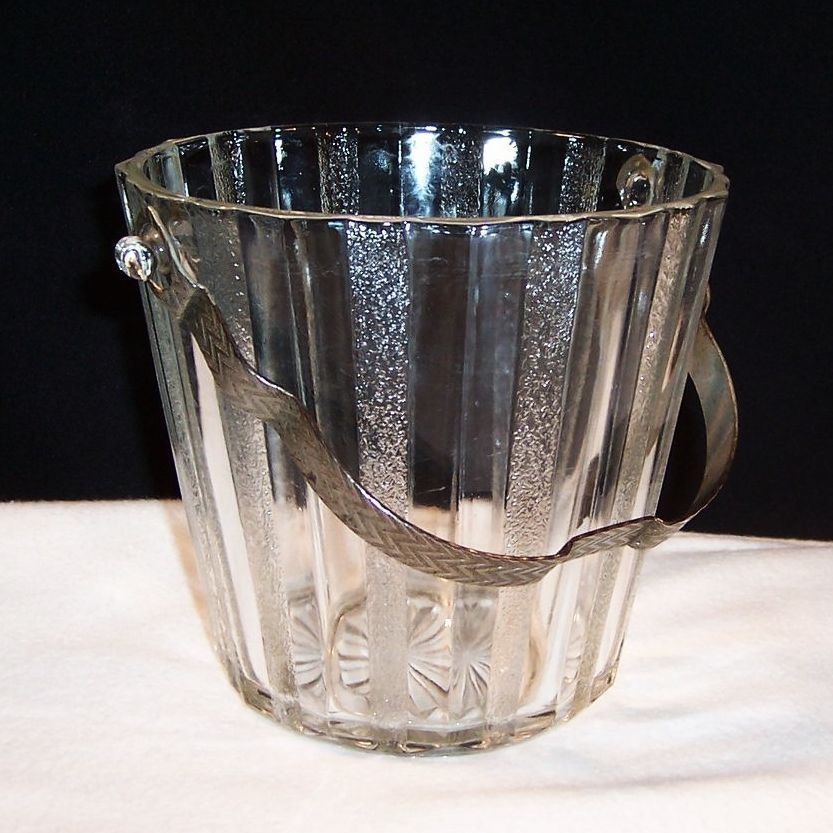 Vintage Anchor Hocking Glass Ice Bucket
