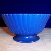 MacBeth Evans Rainbow Petalware Sherbet  (Primary Color;  Blue)