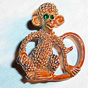 SALE!  Gerry's Cutest Ever Enamel Monkey Pin