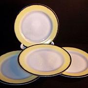 """Hazel Atlas Ovide 9"""" Dinner Plates (SET of FOUR)"""
