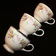 (3) Homer Laughlin Dubarry / Rosemary Cups