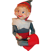Large Japan Christmas Musical Working Jingle Bells Pixie Elf