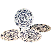 Set of 4: J & G Meakin Blue Nordic Dessert Plates