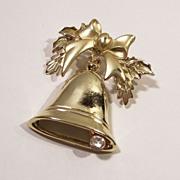 Vintage Bell & Rhinestone Clapper