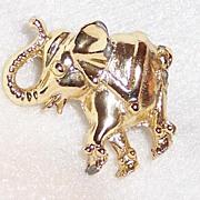 Vintage Whimsical Circus Elephant Pin