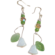 Handcrafted Lily of the Valley Czech Glass Earrings