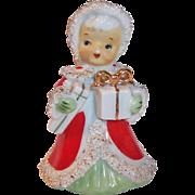 Lefton Japan Christmas Angel Bell Bringing Gifts