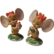 Lefton Christmas Mice