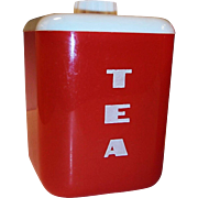 1950's Lustro-Ware Tea Canister