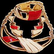 Monet Modernist Necklace, Earrings & Bracelet