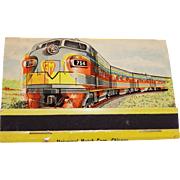 General Motors Locomotive Train Unused Matches, Matchbook