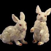 Vintage Pair of Vintage Lefton White Rabbit Figurines H880